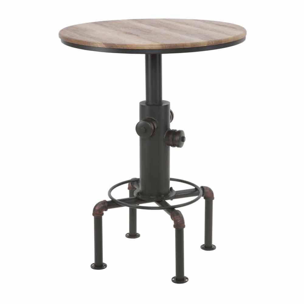Tavolo Da Bar Moderno In Stile Industrial In Ferro E Legno