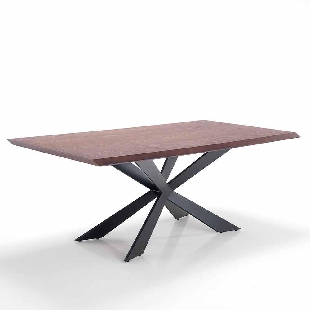 Tavolo Da Pranzo Di Design Moderno In Mdf E Metallo Hoara