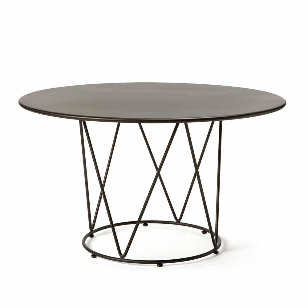 Tavolo Rotondo per Esterno di Design in Metallo Made in Italy