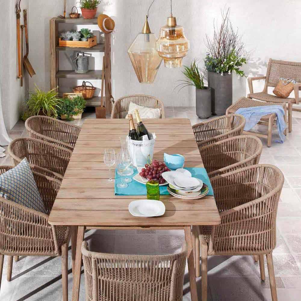 Da disegno sala pranzo design - Tavolo legno giardino ...