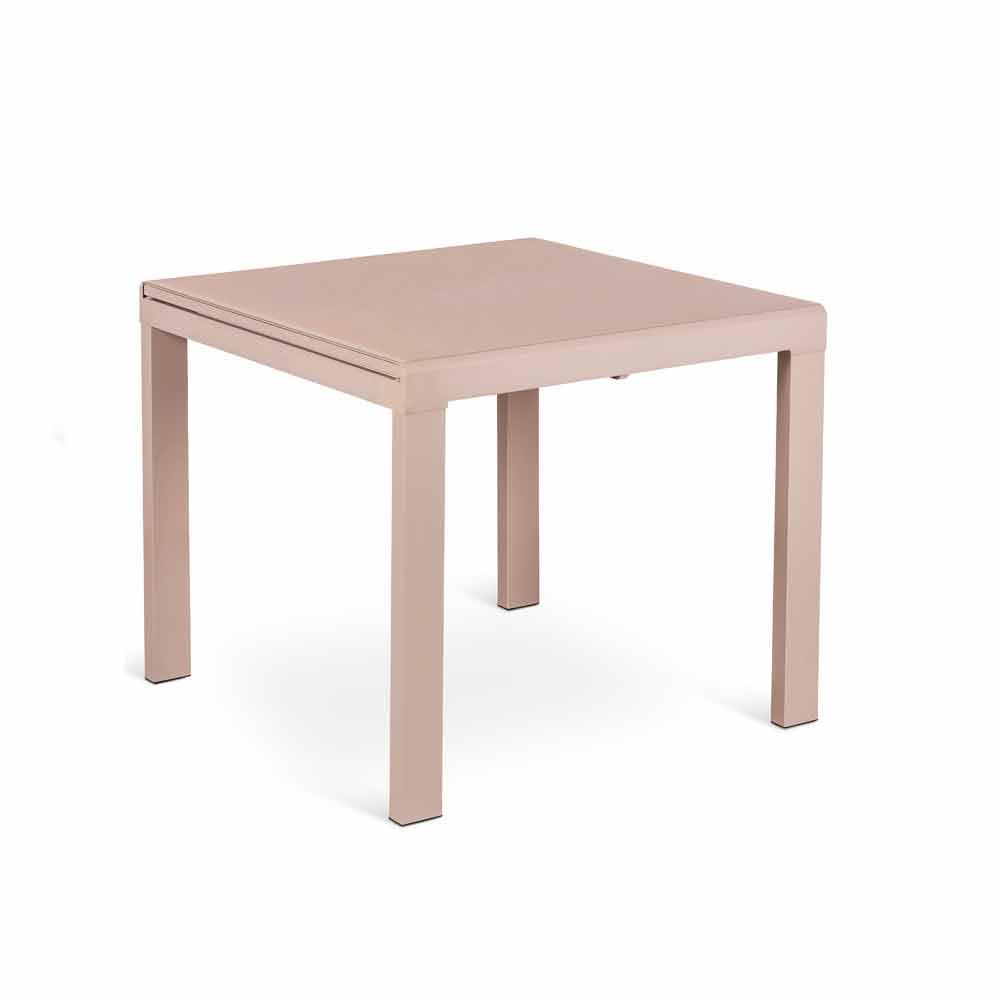 Tavolo da pranzo allungabile con piano in vetro teo for Piano tavolo vetro