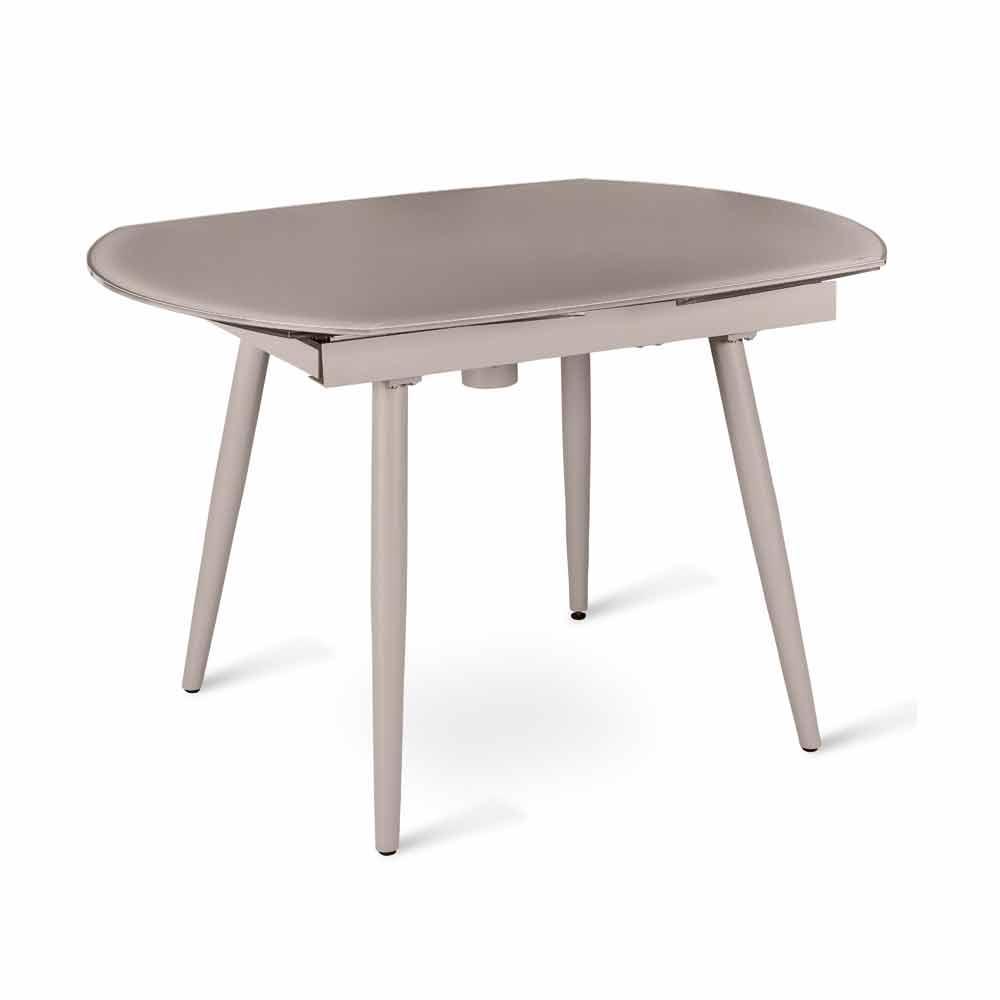 Tavolo Da Pranzo Allungabile Vetro: Tavolo da pranzo allungabile in legno massello acciaio e ...