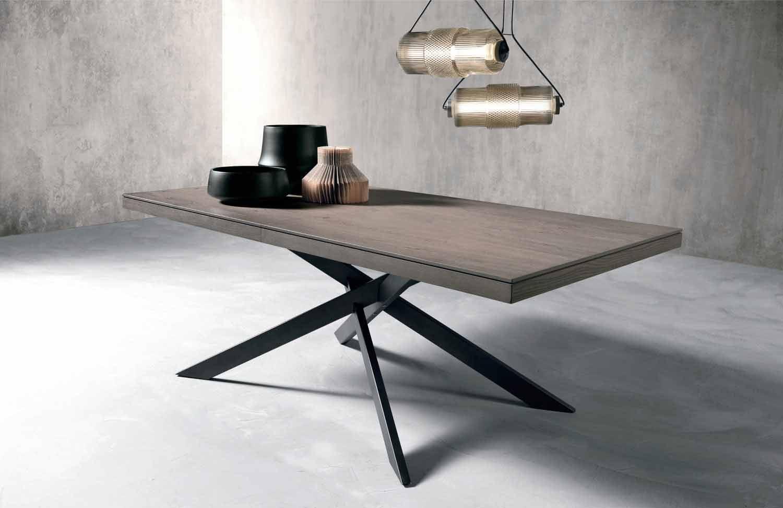 Tavoli Da Pranzo In Legno Allungabili : Tavolo allungabile di moderno design in legno rovere made italy oncino