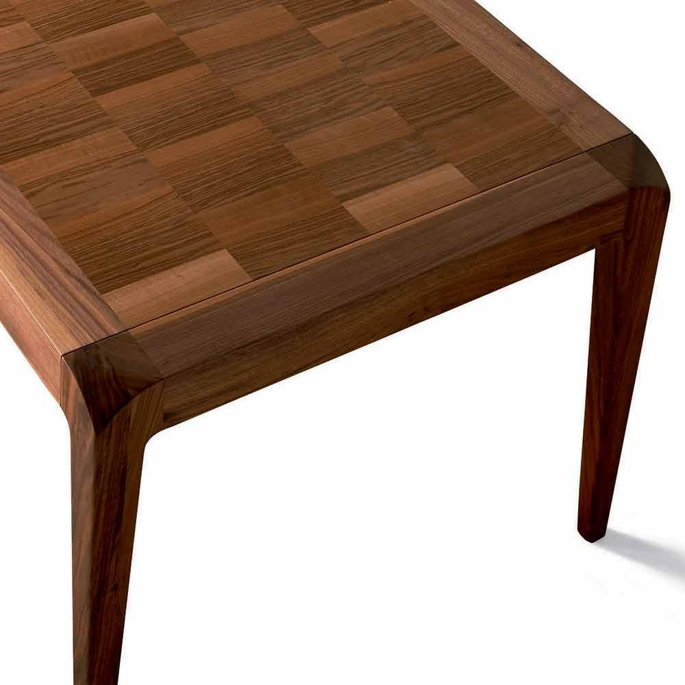 Tavolo allungabile noce naturale design moderno sanni for Tavolo da pranzo allungabile legno
