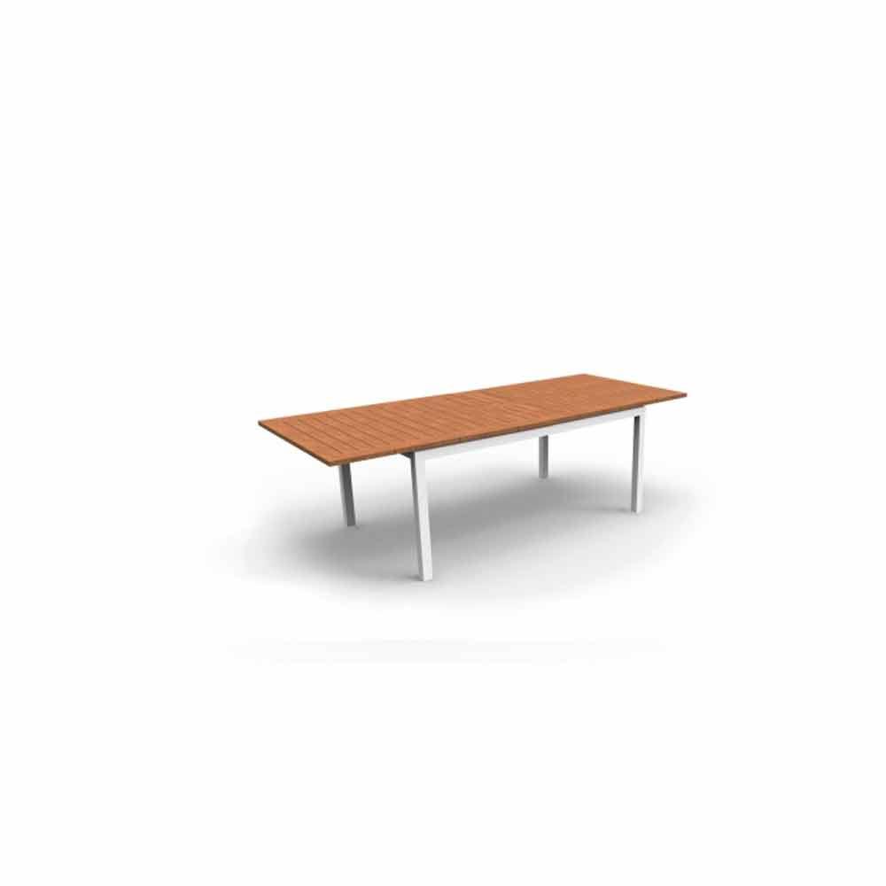 Tavolo da pranzo da giardino allungabile in legno di teak - Tavolo in legno da giardino ...