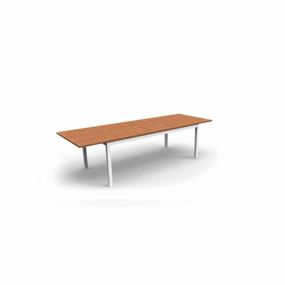 Tavolo Da Esterno Legno Allungabile.Tavolo Da Pranzo Da Giardino Allungabile In Legno Di Teak Timber
