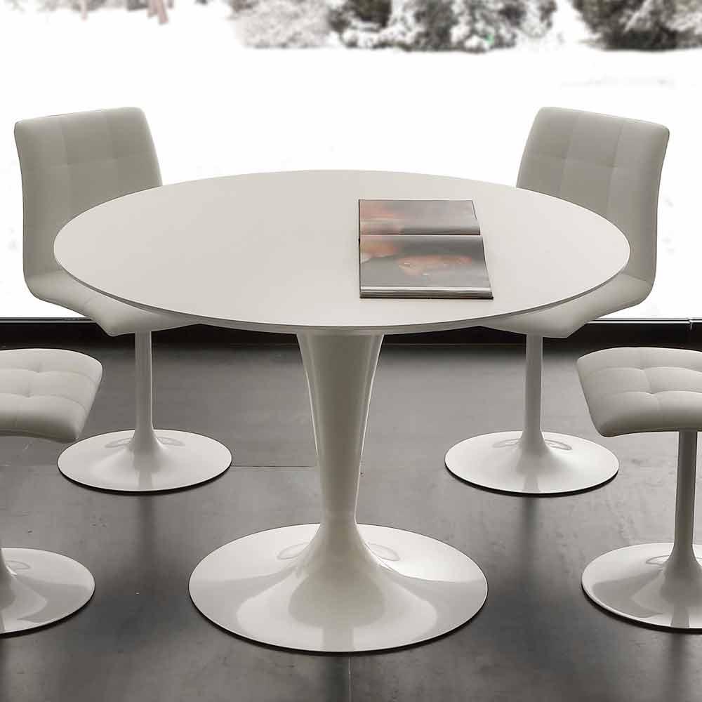 tavolo tondo da pranzo dal design moderno topeka colore