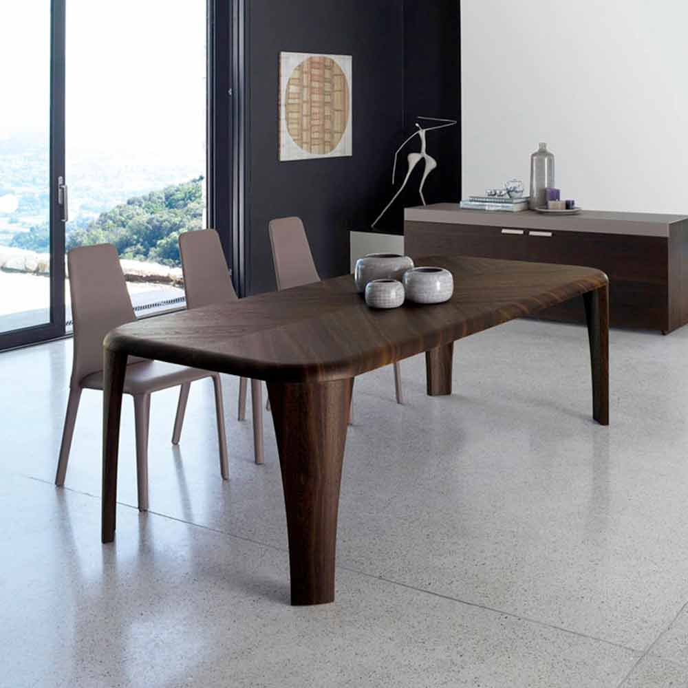 Tavolo di design moderno in legno fatto a mano in italia wood for Tavolo in legno design
