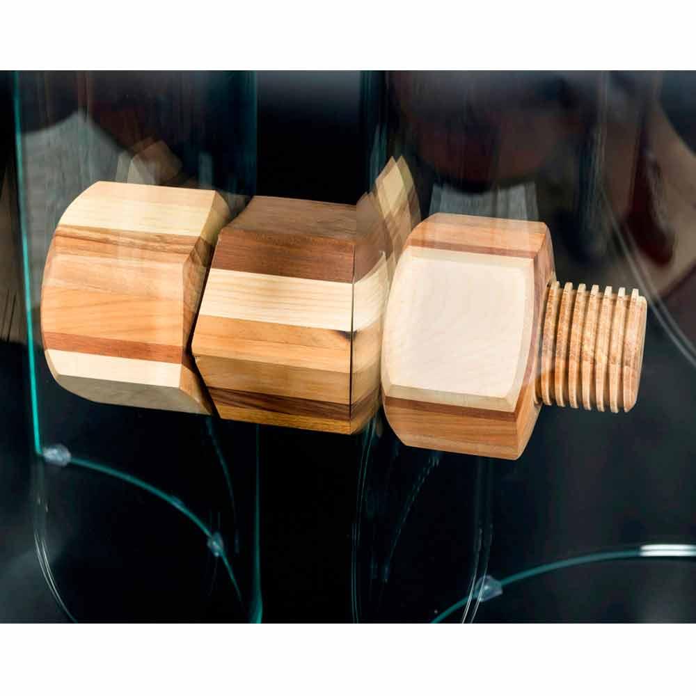 Tavolo Moderno Legno E Vetro.Tavolo Moderno In Legno Di Briccola Veneziana E Vetro