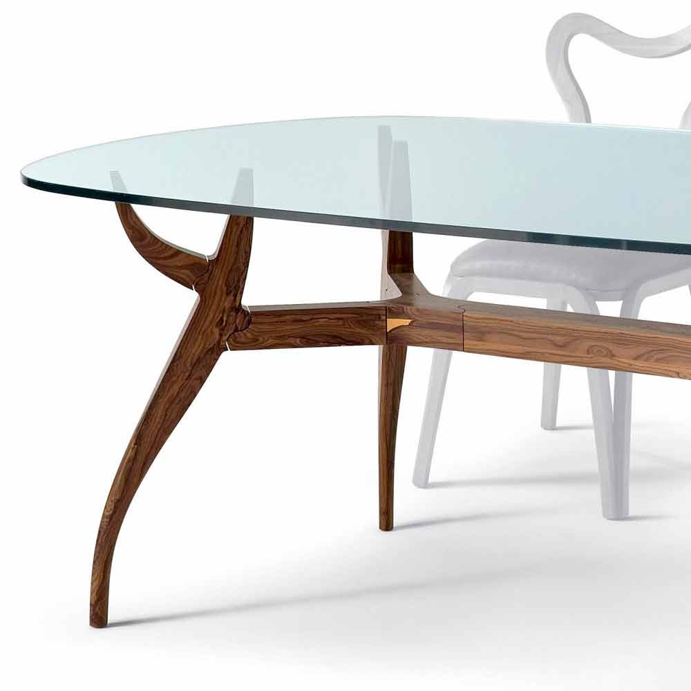 Tavolo ovale da pranzo in legno design moderno l197xp109 for Tavolo da pranzo ovale