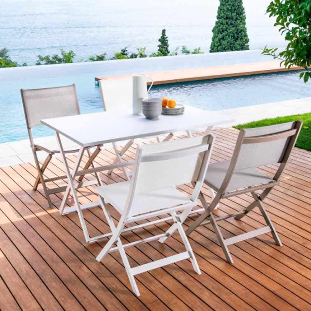 Tavolo pieghevole da giardino queen by talenti - Tavolino esterno ...