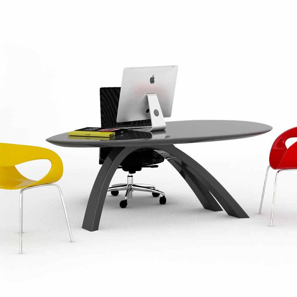 Tavolo scrivania da ufficio di design jatz ii made in italy for Design ufficio scrivania