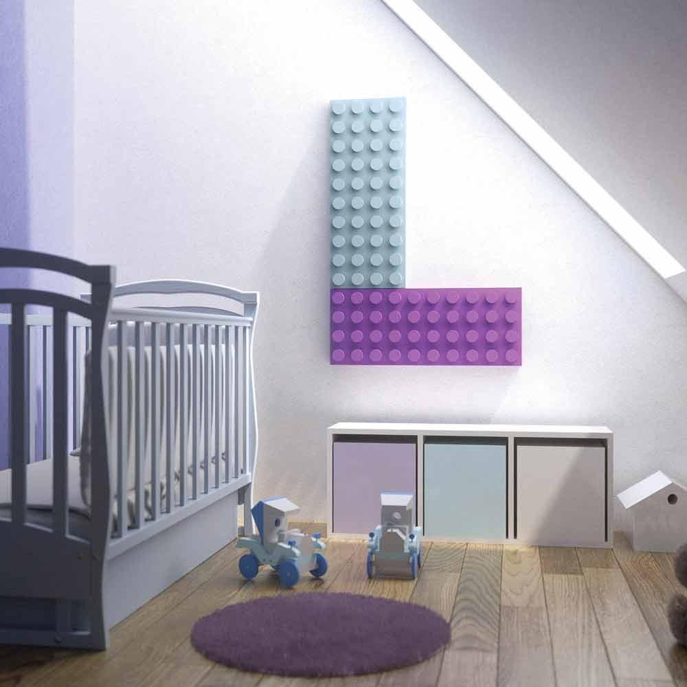 Termoarredo lego idraulico design moderno Brick by Scirocco H