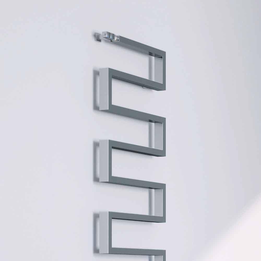 Termoarredo verticale idraulico finitura cromata snake by - Termoarredo verticale ...