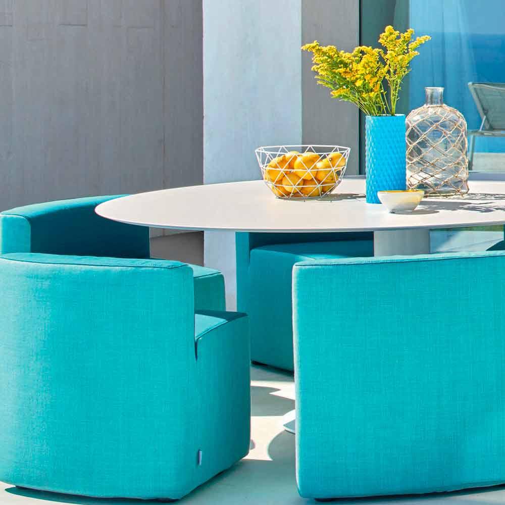 Varaschin big in out tavolo da giardino 8 poltroncine design moderno - Giardino moderno design ...