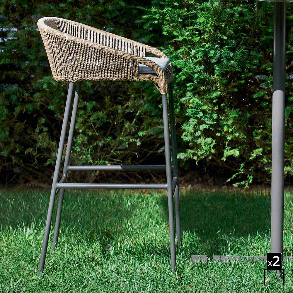 Varaschin cricket sgabello alto da giardino design moderno 2 pezzi - Giardino moderno design ...