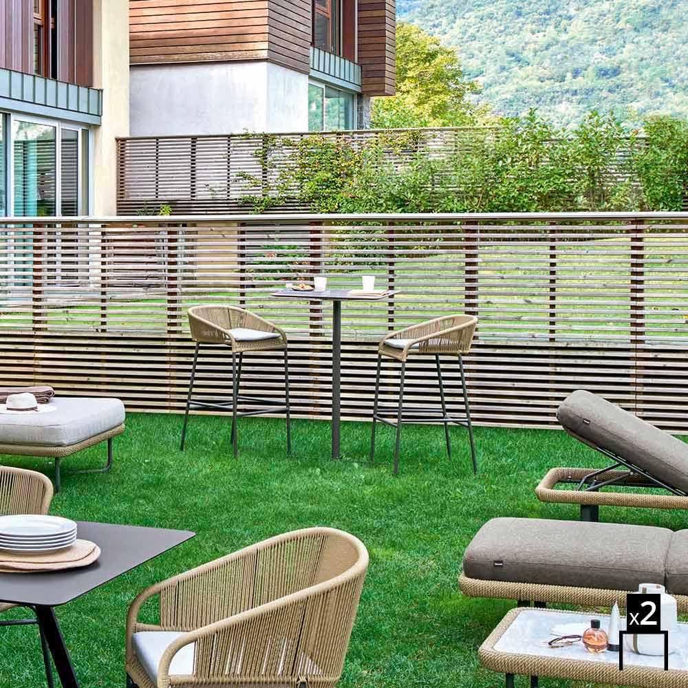 Varaschin cricket sgabello alto da giardino design moderno for Giardino design