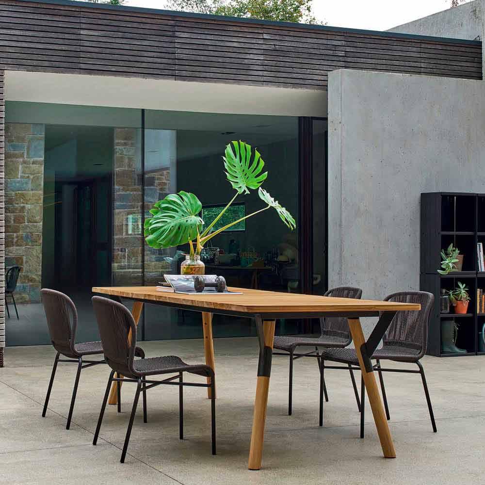 Tavolo Da Pranzo 3 Metri varaschin link tavolo da pranzo da giardino in legno di teak h 75 cm