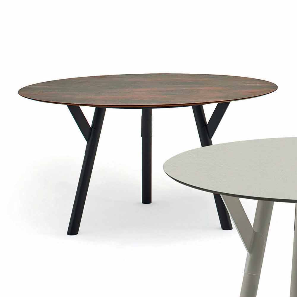 Varaschin Link tavolo tondo da esterno/interno design ...