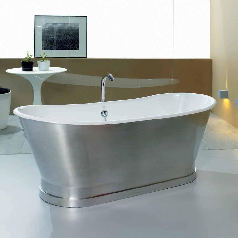 Vasca da bagno da appoggio a terra in ghisa romeo - Riparazione vasca da bagno ...