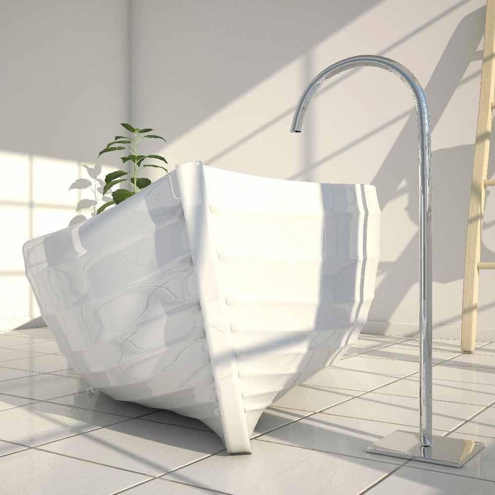Vasca da bagno di design a forma di barca ocean made in italy - Vasca bagno design ...