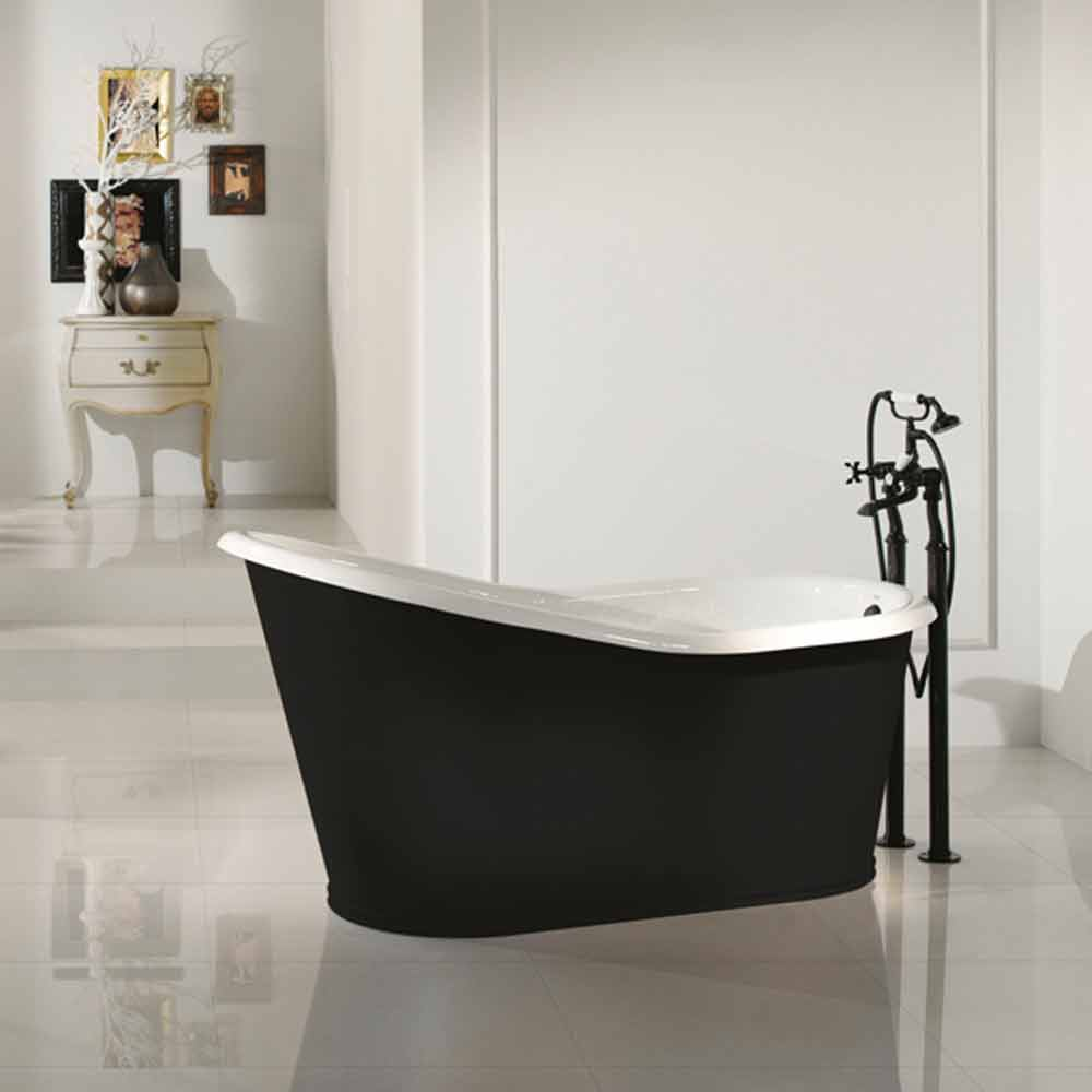 Vasca da bagno freestanding di design in ghisa verniciata old for Vasca bagno design