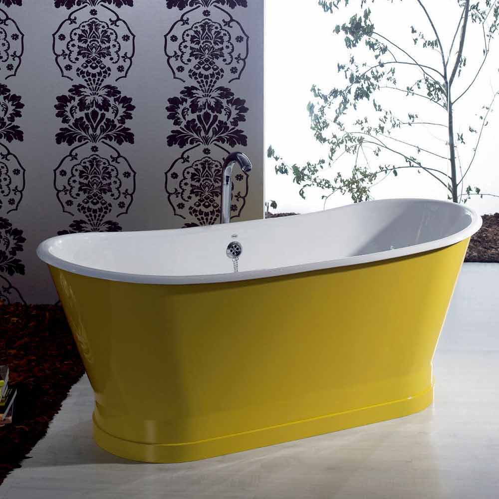 Vasca da bagno freestanding in ghisa colorata dal design moderno betty