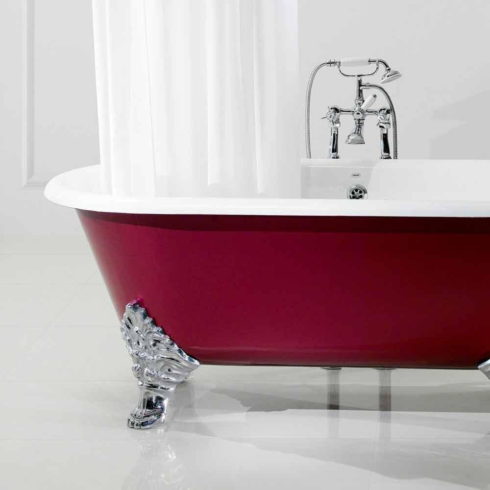 Vasca da bagno freestanding in ghisa con piedini hall - Vasca da bagno con gambe ...