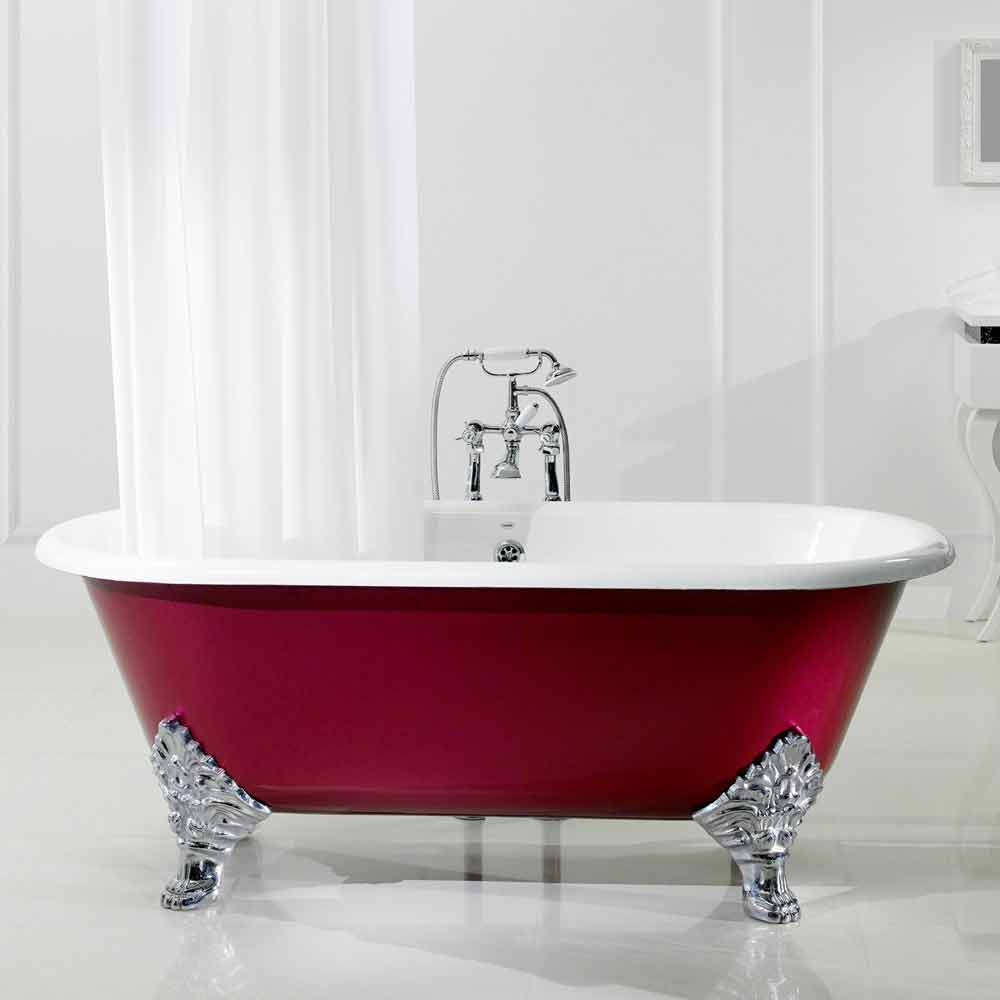 Vasca da bagno freestanding in ghisa con piedini hall - Vasca da bagno con piedini ...