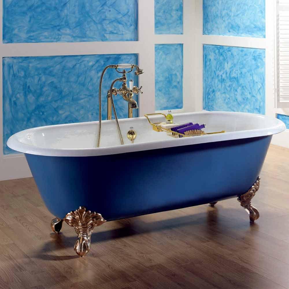 Vasca da bagno freestanding in ghisa verniciata con piedini diane - Vasca da bagno in ghisa ...