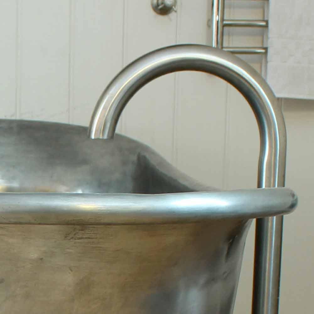 Vasca da bagno freestanding in rame con finitura in ferro for Viadurini bagno