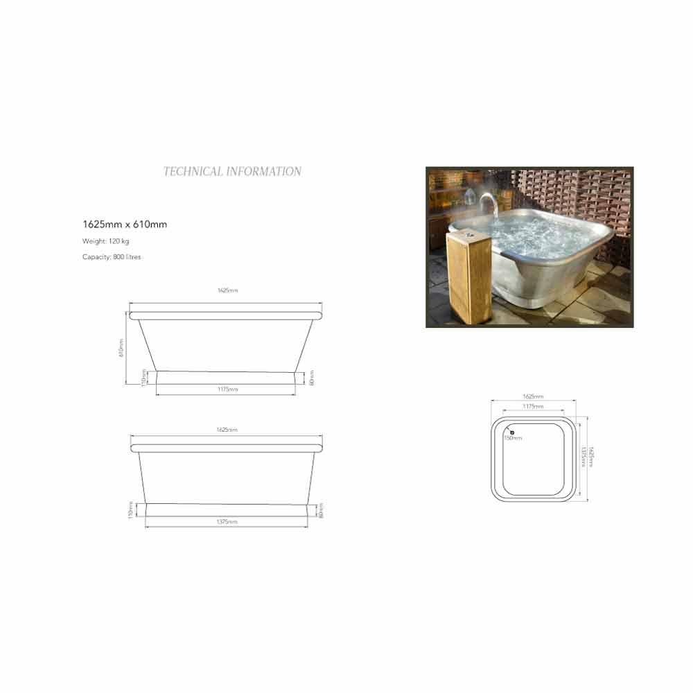 Vasca da bagno freestanding in rame rivestita in ferro bianco Annie