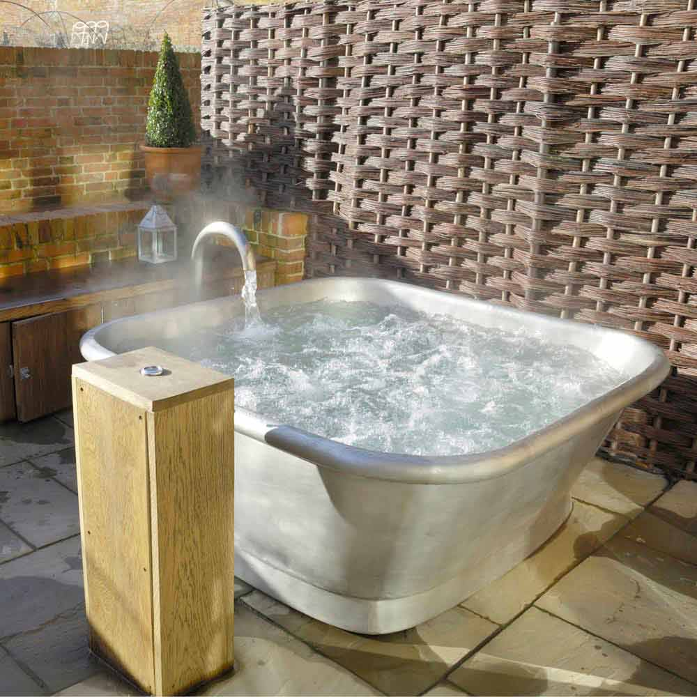 Vasca da bagno freestanding in rame rivestita in ferro - Vasca da bagno quadrata ...