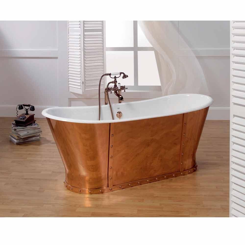 Vasca da bagno in ghisa placcata esternamente in rame henry - Vasca da bagno in ghisa ...