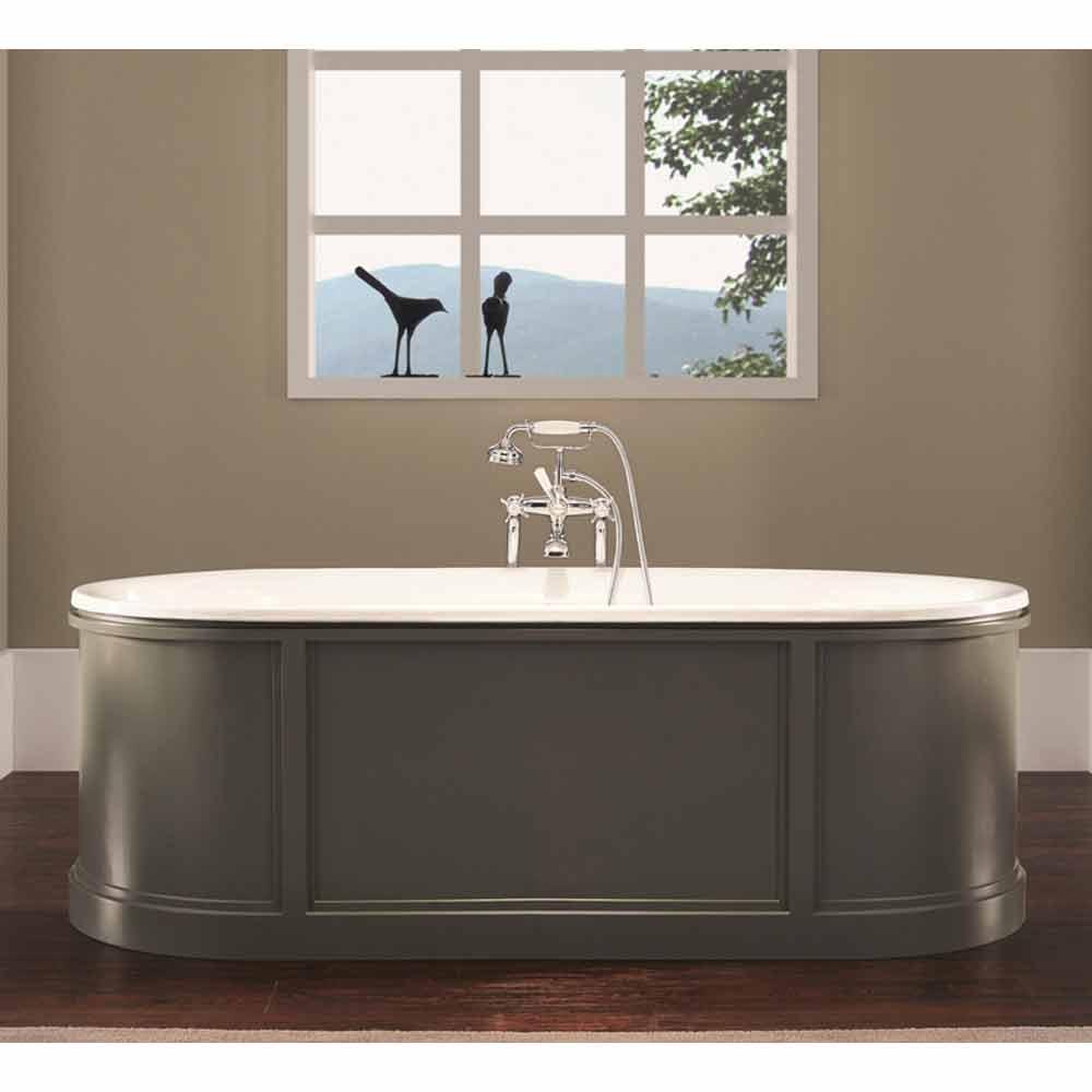 Vasca da bagno in ghisa smaltata e verniciata ashley - Vasca da bagno in ghisa ...
