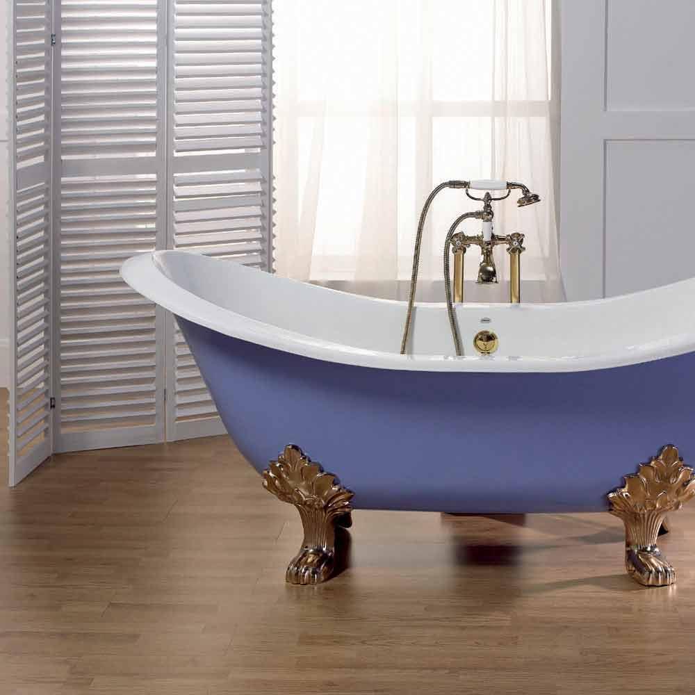 Vasca da bagno in ghisa smaltata e verniciata con piedini lane - Gambe vasca da bagno ...