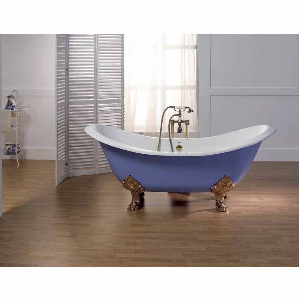 Vasca da bagno in ghisa smaltata e verniciata con piedini lane - Vasca da bagno corta ...