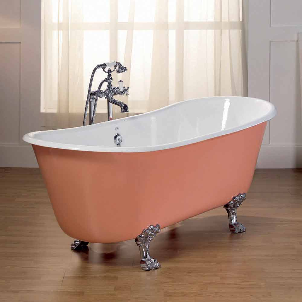 Vasca da bagno in ghisa verniciata con piedini melissa - Vasca da bagno con piedini ...