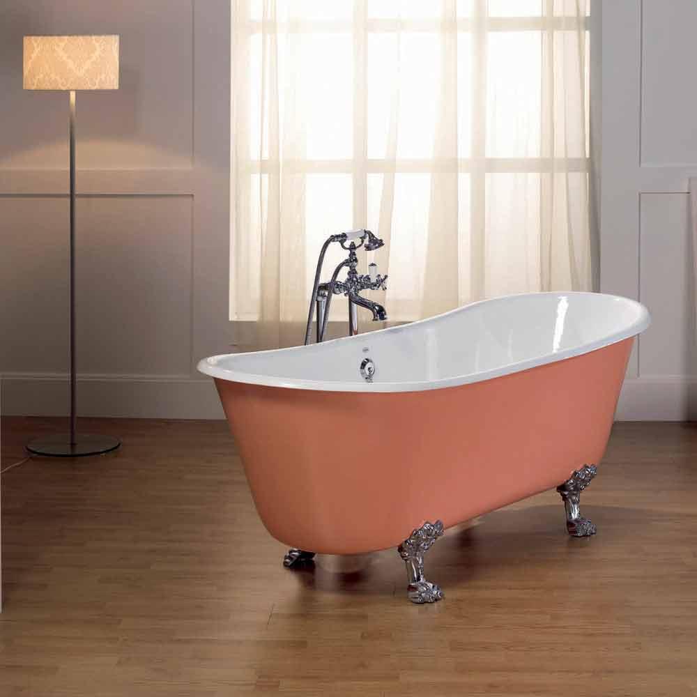 Vasca da bagno in ghisa verniciata con piedini melissa - Gambe vasca da bagno ...