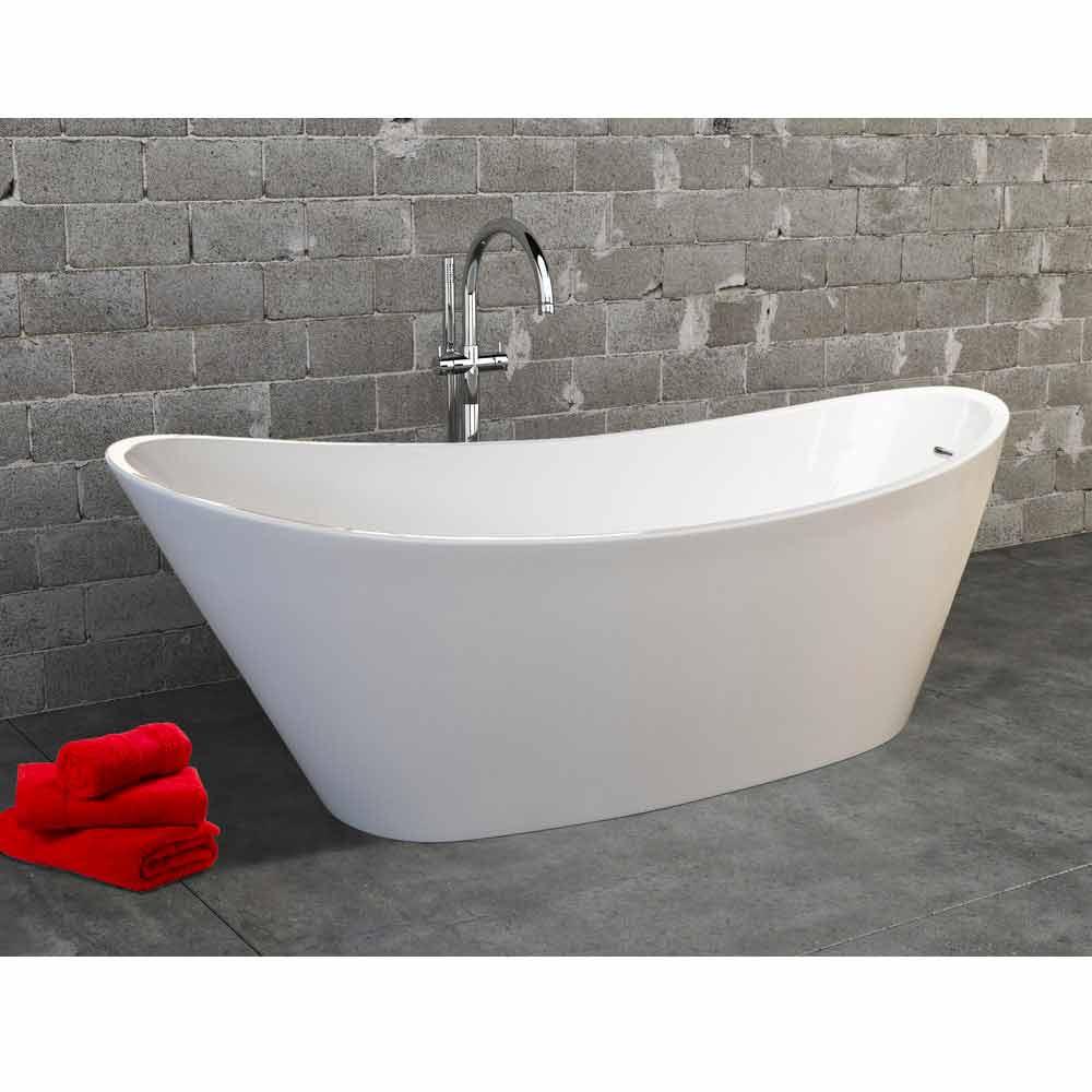 Vasca freestanding in acrilico bianco design moderno - Vasca acrilico ...