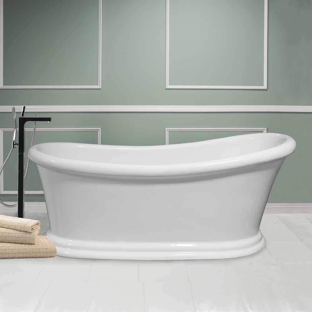 Vasca freestanding moderna bianca in acrilico winter - Vasca acrilico ...