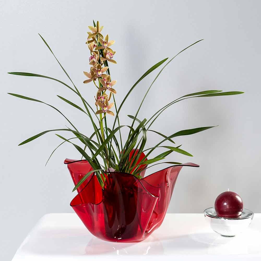 Vaso interno esterno multiuso pina rosso design moderno for Vaso interno