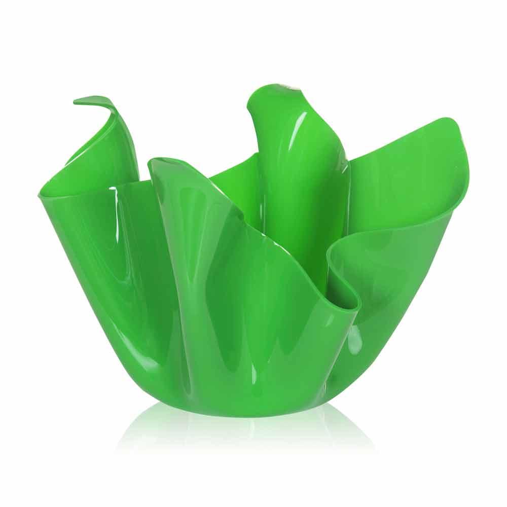 Vaso verde da interno esterno design drappeggiato pina made in italy - Vaso da interno ...