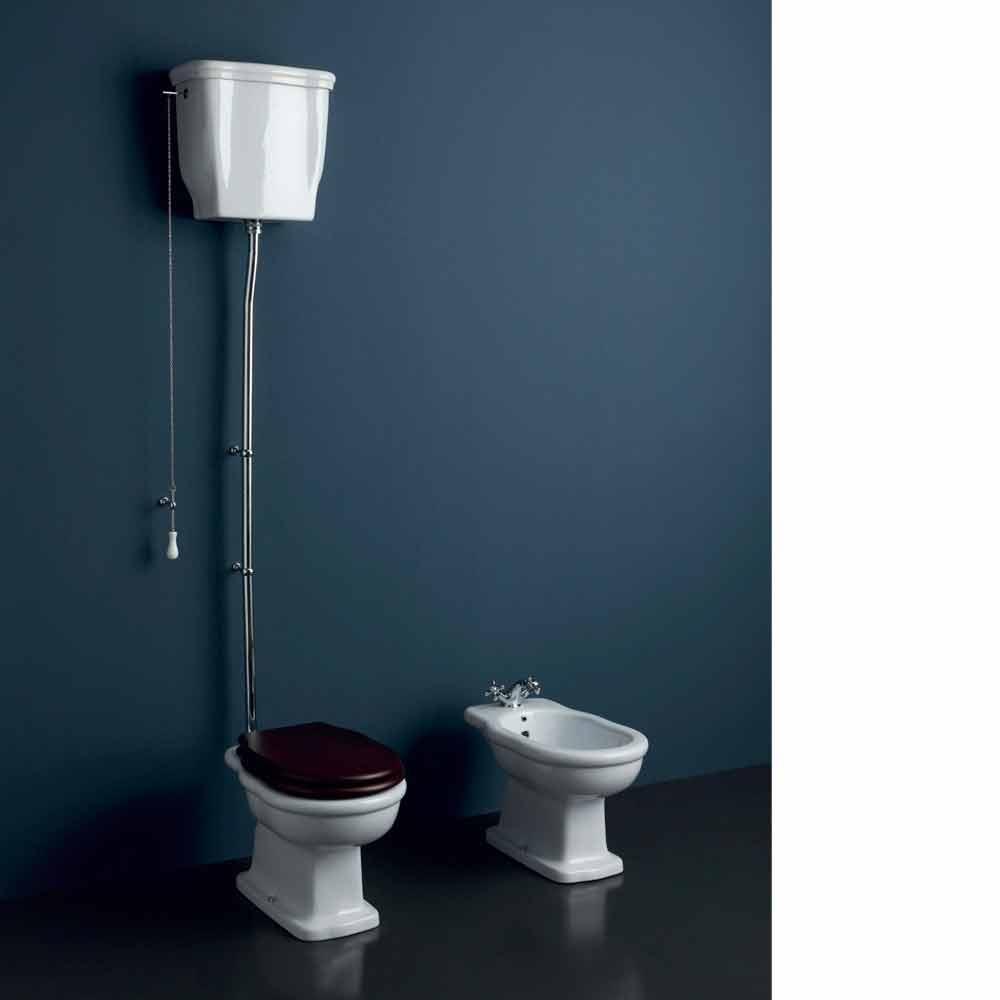 Vaso wc in ceramica design moderno con scarico a parete style for Vaso scarico a parete