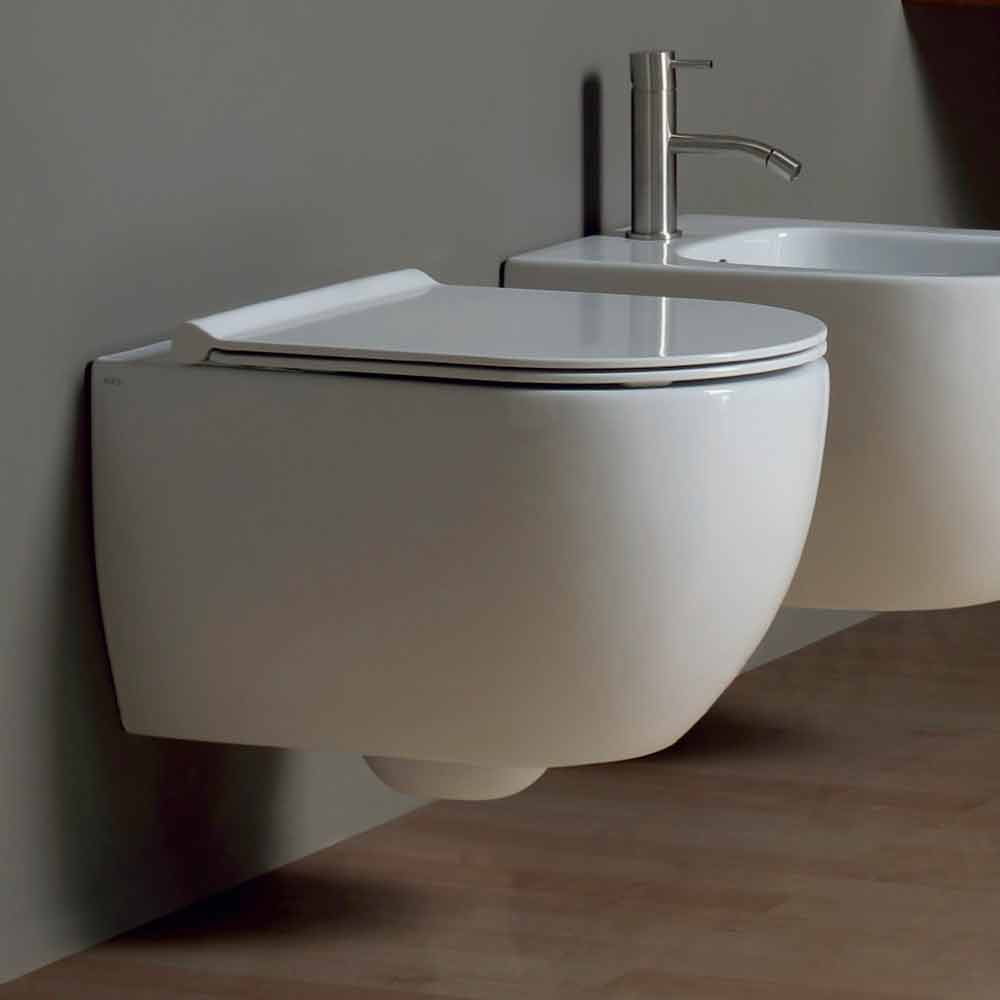 Vaso wc sospeso in ceramica design moderno star 50x35 made for Viadurini bagno