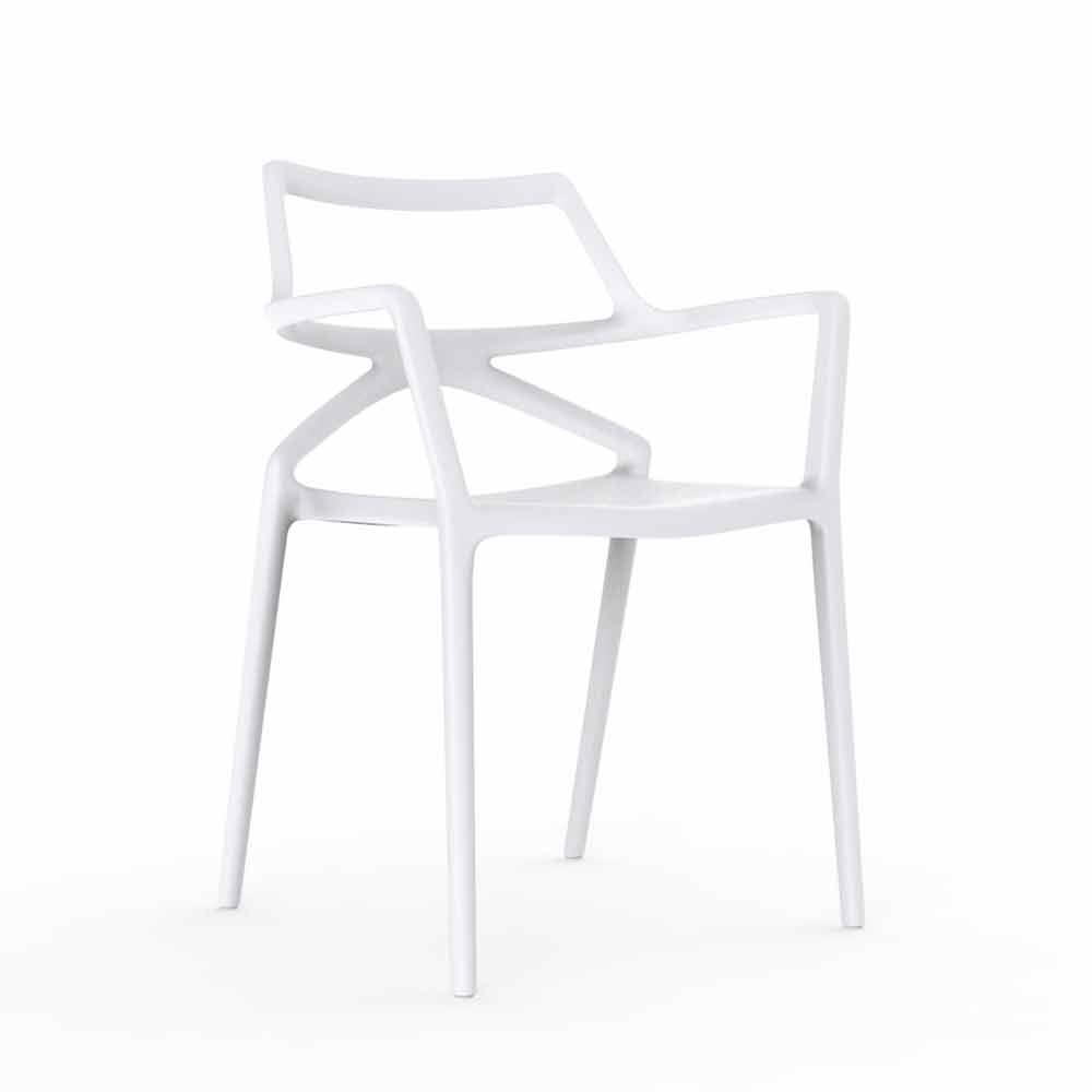Sedie In Polipropilene Da Giardino.Vondom Delta Sedia Da Giardino Di Design Moderno In Polipropilene