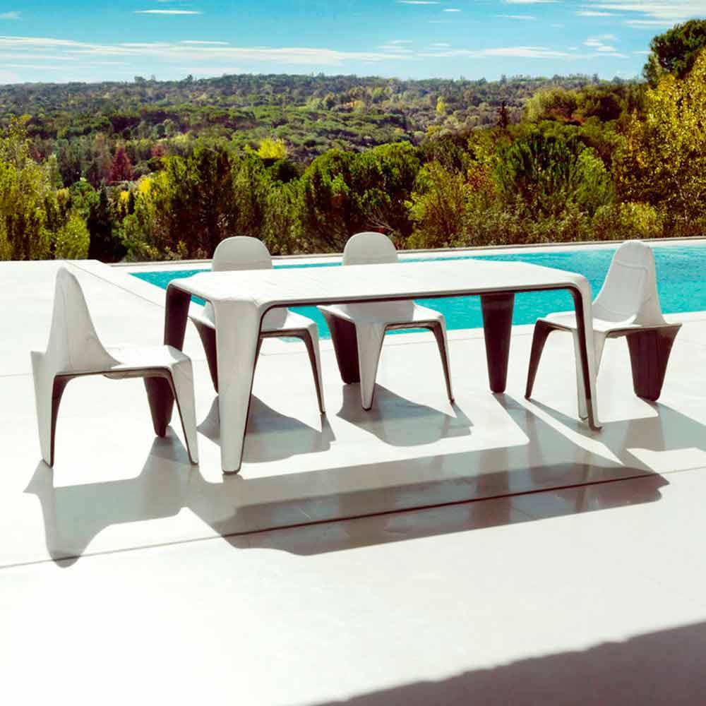 Vondom f3 tavolo da giardino l190xp90cm in polietilene design moderno - Giardino moderno design ...