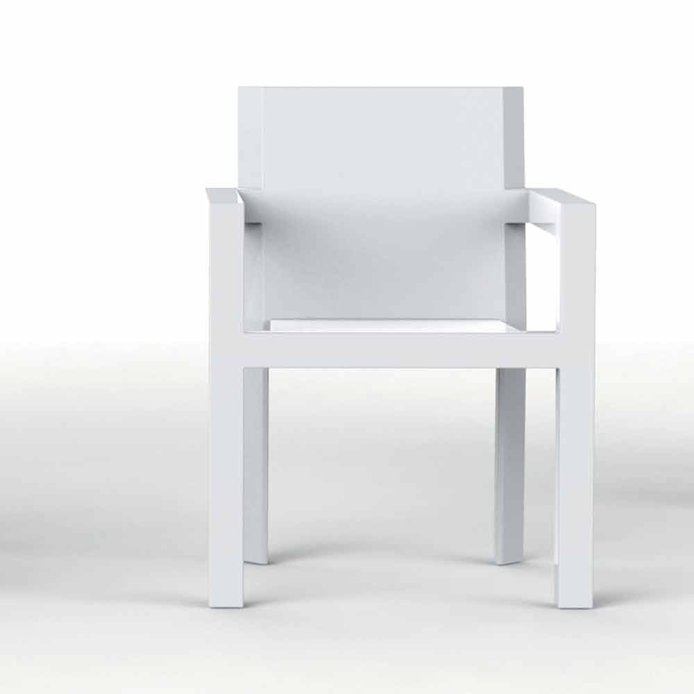 Sedie In Resina Da Esterno.Vondom Frame Sedia Da Giardino Con Braccioli In Resina Di Polietilene