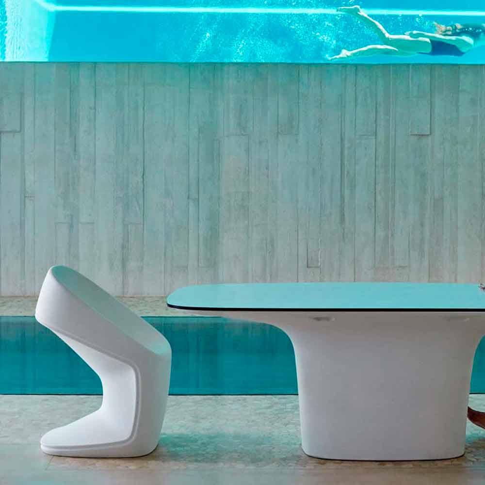 Vondom ufo sedia da giardino bianca moderna l56 x p62 x for Sedia design bianca