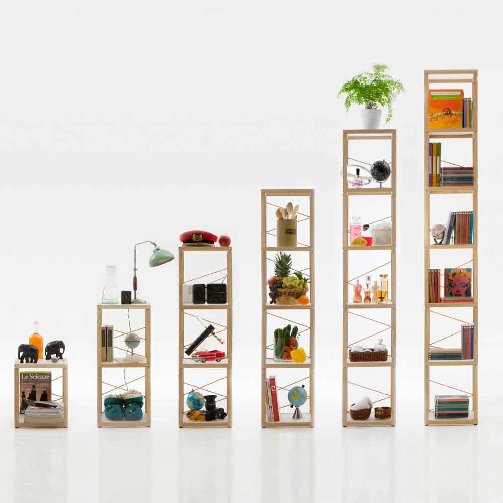 Libreria componibile design a prezzo scontato zia babele for Libreria angolare componibile